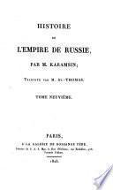 Histoire de l'empire de Russie, tr. par mm. St.-Thomas et Jauffret