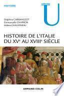Histoire de l'Italie du XVe au XVIIIe siècle