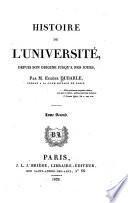 Histoire de l'Université