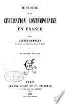 Histoire de la civilization contemporaine en France ...