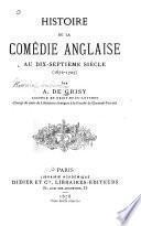 Histoire de la comédie anglaise au dix-septième siècle, 1672-1707