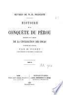 Histoire de la conquête du Pérou