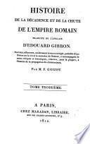 Histoire de la décadence et de la chûte de l'Empire romain
