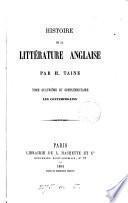 Histoire de la littérature anglaise: Les contemporains