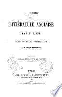 Histoire de la littérature anglaise par H. Taine