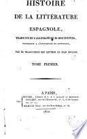 Histoire de la littérature espagnole, 1-2