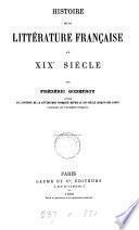Histoire de la littérature française au XIXe siècle