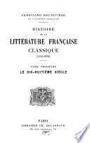 Histoire de la littérature française classique