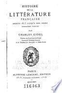 Histoire de la littérature française: Depuis 1815 jusqu'à nos jours. [1888]-1891