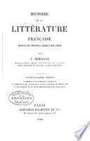 Histoire de la littérature française depuis ses origines jusqu'à jours
