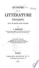 Histoire de la littérature française depuis ses origines jusqu'à nos jours
