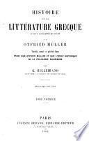 Histoire de la littérature grecque jusqu'a Alexandre le Grand