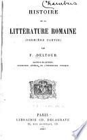 Histoire de la littérature romaine