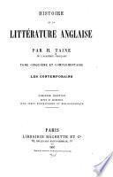 Histoire de la littérture anglaise