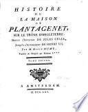 Histoire de la maison de Plantagenet sur le trône d'Angleterre