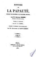 Histoire de la papauté pendant les seizième et dix-septième siècles