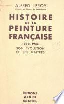 Histoire de la peinture française, 1800-1933