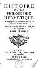 Histoire de la philosophie hermetique