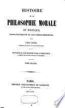 Histoire de la philosophie morale et politique