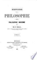 Histoire de la Philosophie. Philosophie ancienne