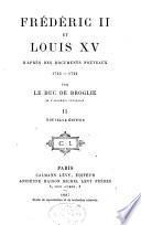 Histoire de la politique extérieure de Louis XV (1741-1756)
