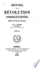 Histoire de la révolution à Marseille et en Provence