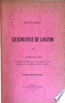 Histoire de la seigneurie de Lauzon