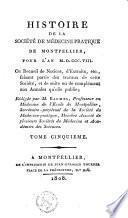 Histoire de la société de médecine-pratique de Montpellier