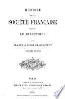 Histoire de la société française pendant le directoire