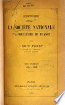 Histoire de la société nationale d'agriculture de France