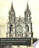Histoire de la ville, cité et université de Reims métropolitaine de la Gaule belgique