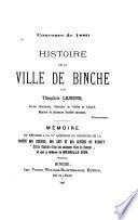 Histoire de la ville de Binche