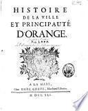 Histoire de la ville et principauté d'Orange