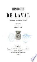 Histoire de Laval, 818-1855