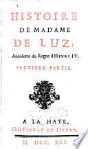 Histoire de Madame de Luz