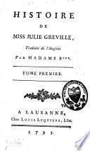 Histoire de miss Julie Greville