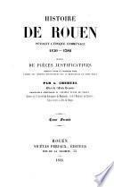 Histoire de Rouen pendant l'époque communale 1150-1382