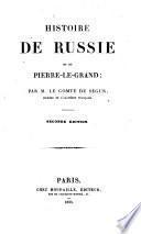 Histoire de Russie et de Pierre-le-grand