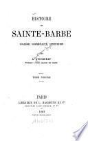 Histoire de Sainte-Barbe