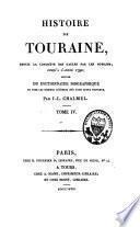 Histoire de Touraine jusqu'à l'année 1790