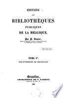 Histoire des bibliothèques publiques de la Belgique
