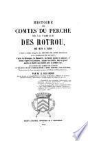 Histoire des comtes du Perche de la famille des Rotrou