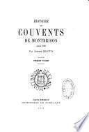 Histoire des couvents de Montbrison avant 1793