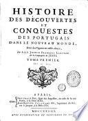 Histoire des découvertes et conquestes des portugais dans le nouveau monde, 1