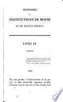 Histoire des institutions de Moïse et du peuple Hébreu