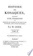 Histoire des Kosaques