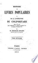 Histoire des livres populaires