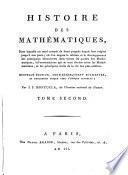 Histoire Des Mathematiques