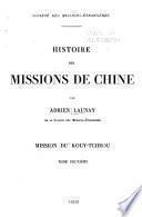 Histoire des missions de Chine