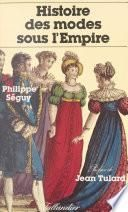Histoire des modes sous l'Empire
